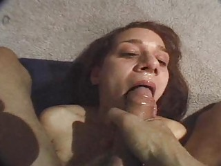 turned on girl doing deep gorge inside point of