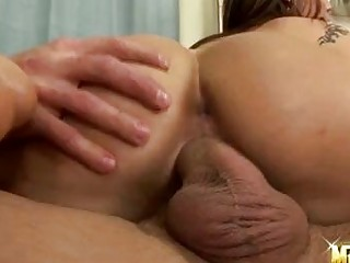 sweet girl satin bloom drives her pussy on a rock