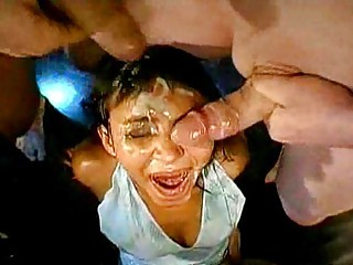 awesome extreme bukkake facials!!!