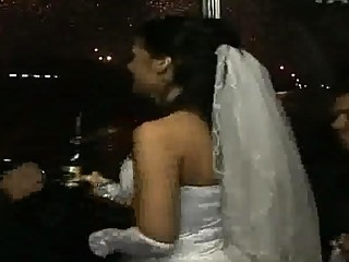 bride banged into the bus