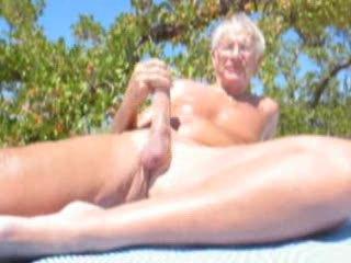elderly fuckers cumming on the seaside
