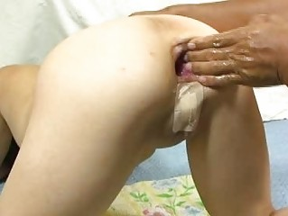 extreme young bottom fingering and wine bottle