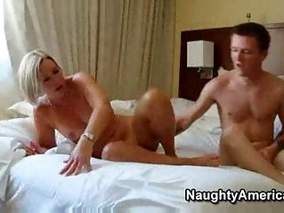 awesome older  bleached lady wonderful suz bangs