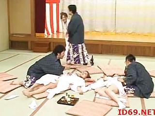 japanese hotties drilled on the floor
