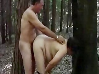 mother 51 piercing with stranger in forest