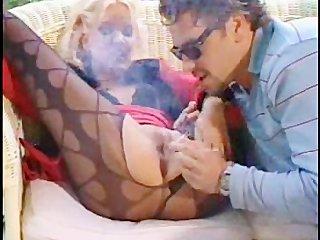 Hot couple smoking sex