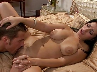 desirable brunette with huge muffins acquires her