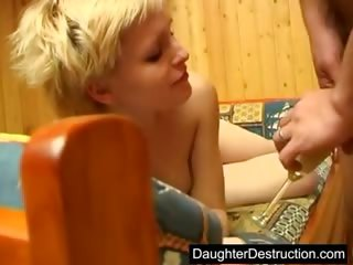 inexperienced daughter raw pierced into backseat