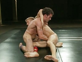 experienced gay fuckers wrestling for domination