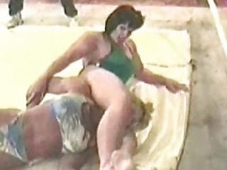 woman bodybuilders wrestling  lora ottenad vs coco