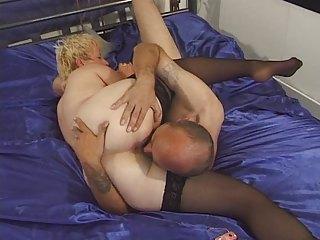 elderly into pantyhose toyed and banged