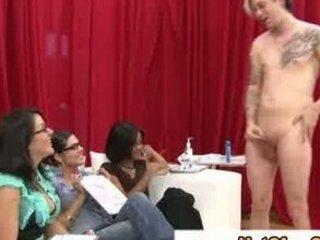 cfnm sluts observe as man enjoys with his libido