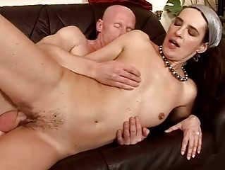 Granny giving blowjob and getting fucked hard