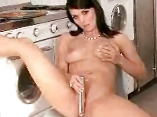 brunette lady with big boobs teases with fuck