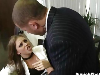 amateur acquires punished by her boss