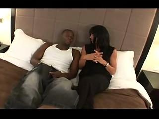 huge breast lady copulates ebony male