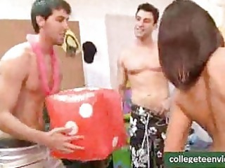 college kids have an indoor pool celebration