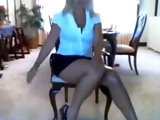 bitch milf milf strips on webcam