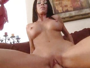 awesome brunette with clean kitty obtains drilled