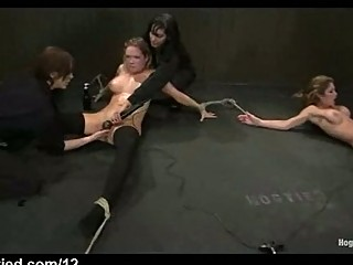 tied up bitches fisted and toyed