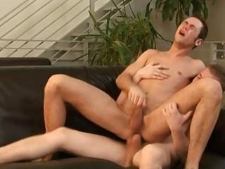 gay hunk drives on top of his lovers schlong