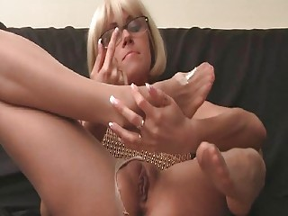 stretched legged pale into stockings and high