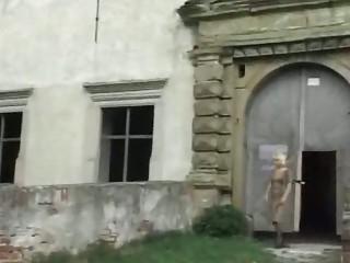 Blonde Granny outdoor