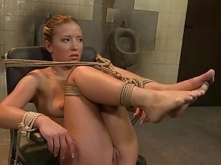 beautiful blond dike dominatrix with awesome feet