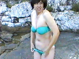 delightful woman primary moment on nudist camp