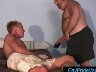 gay bear calling his fucker for some dick and