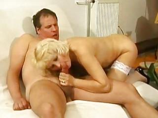 elderly inside ashen bikini