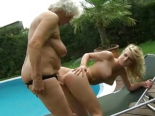 horny old likes dike fuck with amateur blond