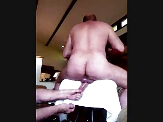 daddy is stroked from behind!