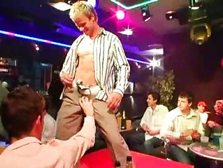 gay boys doing striptease and taking dollar