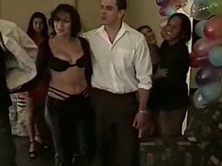 latino bride groupsex into bachelor celebration