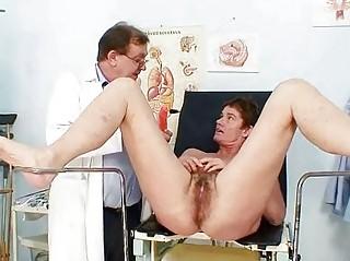 mature babe shaggy vagina gyno examination into