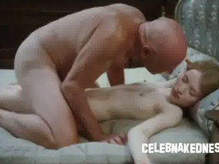 celeb emily browning naked and lean laying prone