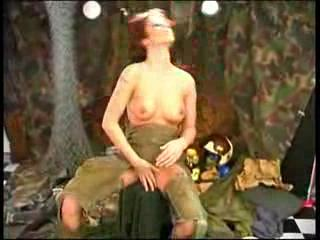 army redhaired works her kitty