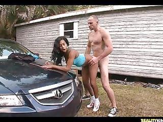 j mac banging hazel on top of the hood of his car