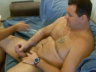 huge bear teases with his dick
