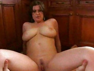 slutty brunette drives giant dick with clean cave