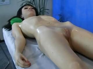 masseur sliding his fist into rough juicy bitch
