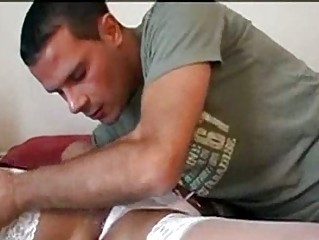 sensual woman hammering uneasy  by her fiancee