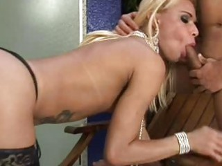 sweet tranny acquires stretched bottom drive