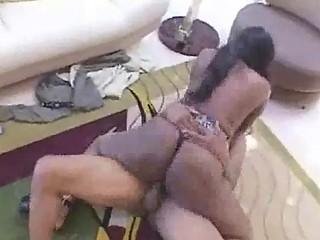 brown african queen has crazy dick licking skills