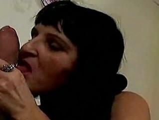 insane elderly lady gets large penis
