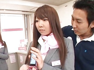 japanese av babe bottom groped