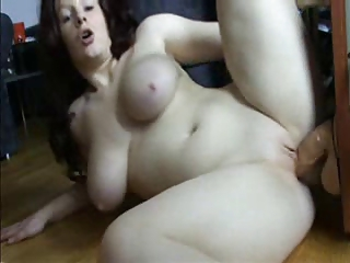 girl on a huge rubber dick