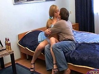 glamorous russian lady drilled