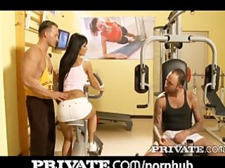 private: ebony angelika gets dp in the gym